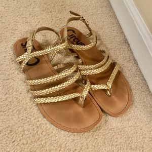 Circus by Sam Edelman 7 gold braided sandals
